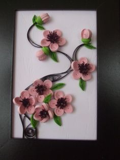 Quilling cherry blosom by Lili