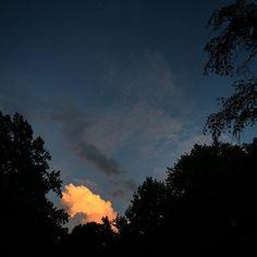 Last cloud after storm