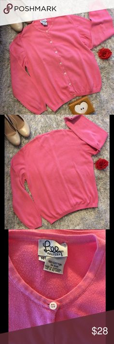 Lily Pulitzer White Label Sweater Pink, 100% cotton. Size Medium. Measures 18 inches pit to pit, 22 inches top to bottom.  In gently used condition without pulls, stains, tears, or structural defect.  Very minor piling as seen in pic 3. Lilly Pulitzer Sweaters Cardigans