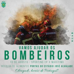 O Sporting vai promover uma acção solidária para ajudar os Bombeiros Portugueses. Num momento tão complicado como o que vivemos…