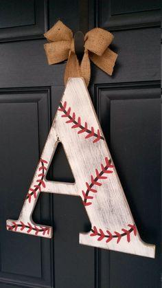 Letras de 18 pulgadas Chevron béisbol por BlessHerHeartDesigns #BaseballBoys