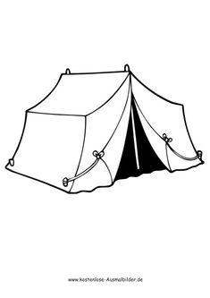 Ausmalbild Camping Zelt Gutschein Vorlage Kostenlos Karten Zum Vatertag Kunst Fur Kinder