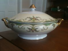 Morimura Brothers China Casserole Dish with by BobsAtticTreasures, $40.00
