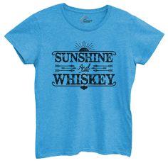 Womens Sunshine And Whiskey Tshirt