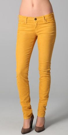 I'm really loving the idea of colored denim this fall. I love how rich this Marigold is.