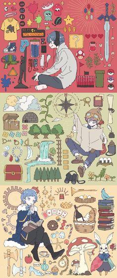 Hair Art Drawing Kawaii Ideas For 2019 Art Manga, Anime Art, Pretty Art, Cute Art, Character Illustration, Illustration Art, Medical Drawings, Image Manga, Character Art