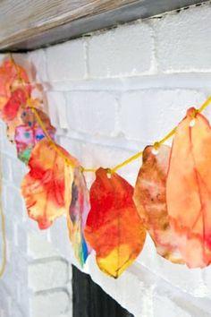 Celebrate the Season: Coffee Filter Fall Leaf Garland