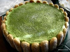 Green tea tiramisu -actually I use this recipe but substituted macha powder and green tea instead.     http://www.food.com/recipe/tiramisu-84612    I also modified the recipe to make a 9x3 springform pan.    doubled the heavy cream  tripled the sugar content  (if you do the lady fingers brim then you need to have more lady fingers on hand.)