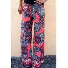 trendsgal.com - Trendsgal Wide Leg Pink Print Exumas Pants - AdoreWe.com