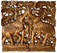 Elegant handmade wood carve panel made from very thick reclaimed Teak wood. The Oriental woodcarving design adds extra warm and elegance touch to your living home or Wood Bed Design, Door Design, Furniture Design, Wood Beds, Teak Wood, Wood Sculpture, Wooden Doors, Wood Wall, Wall Decor