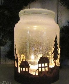 1000 images about natale in barattolo on pinterest snow - Barattoli decorati natalizi ...