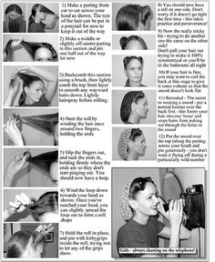 I'm going to try victory rolls for the decade dance at the TVD convention in August.