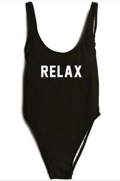f849749ce9382 RELAX One Piece Squad Swimsuit, One Piece Swimsuit 2017, Black Swimsuit,  Beach Bachelorette