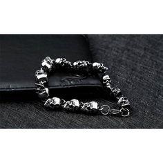 Punk Skull Chain Bracelet - Skullflow    https://www.skullflow.com/collections/skull-bracelets/products/punk-skull-chain-bracelet