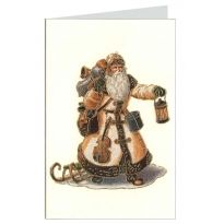 White Santa Italian Christmas Card ~ Rossi Italy