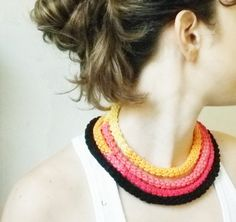 crochet necklace on Etsy, $28.49 AUD