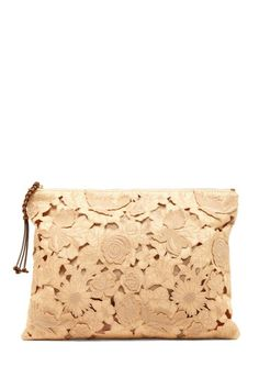 Valentino Raffia Embroidered Clutch by Designer Handbag & Accessory Shop on @HauteLook