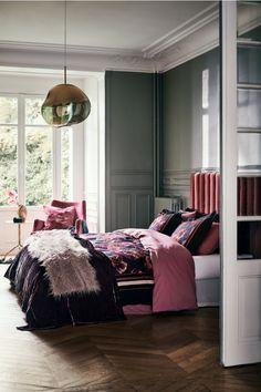 Velvet Bedspread - Burgundy - Home All Adult Bedroom Decor, Home Bedroom, Master Bedroom, Bedroom Furniture, Bedroom Ideas, Elle Decor, Burgundy Bedroom, Burgundy Bedding, Victorian Bedroom