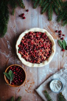 Cranberry Sage Pie | Hint of Vanilla