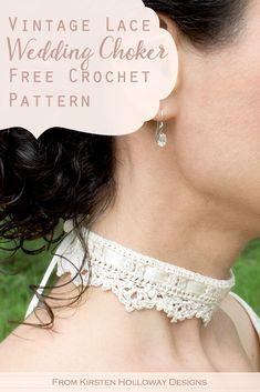 Crochet Lace Collar, Crochet Lace Edging, Easy Crochet Patterns, Crochet Designs, Free Crochet, Crochet Collar Pattern, Vintage Crochet Patterns, Simple Crochet, Kids Crochet