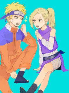 Naruto and Ino. Naruto Shippuden Sasuke, Hinata Hyuga, Naruto Art, Anime Naruto, Boruto, Spider Man Playstation, Naruto Couples, Sasuhina, Narusaku