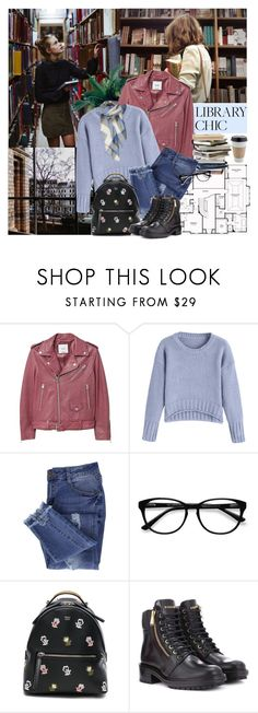 """""""Library Chic !"""" by euafyl ❤ liked on Polyvore featuring MANGO, Essie, EyeBuyDirect.com, Fendi and Balmain"""