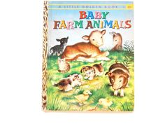 Baby Animals a Vintage Children's Book by lizandjaybooksnmore