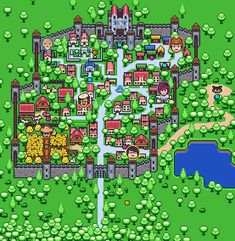 An adventure-RPG map mockup for a college work. Game Concept, Concept Art, 3d Pixel, Retro, Video Game Sprites, Pixel Drawing, Pixel Design, Pixel Art Games, Video Game Art