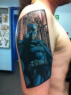 Awesome Batman Tattoo-one day I'll get my Batman ink....if I can just figure out which one I want!!!