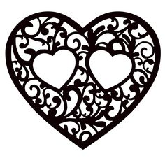 Best Heart Tattoo Designs On Paper 44 Ideas Silhouette Clip Art, Silhouette Design, Stencil Diy, Stencils, Thermocol Craft, Routeur Cnc, Stylo 3d, Red Heart Tattoos, Vine Tattoos