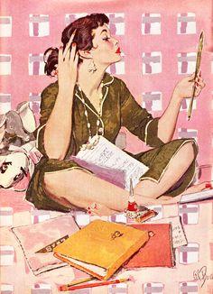Pin Up Retro, Retro Art, Art Vintage, Vintage Posters, Pop Art, Pin Up Illustration, Poses References, Arte Pop, Pin Up Art