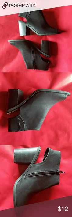 "Maurices Black size 8 peep toe wedges Maurices Black size 8 peep toe wedges Worn twice, I love them but can't handle the heel Heel is 3 1/4"" Maurices Shoes Wedges"