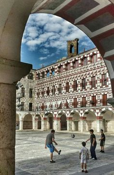 Everyone deserves a perfect world! Spain Places To Visit, Places To Go, Carl Sagan, Pamplona, Merida, Spanish Architecture, Balearic Islands, Through The Window, Spain And Portugal