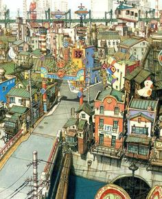 """""""Tekkonkinkreet"""" backgrounds by Shinji Kimura* Art of © Studio 4°C Animation Studios*  • Blog/Website   (www.studio4c.co.jp) • Online Store   (www.studio4c.co.jp/top.html) ★    *Please support the artists and studios featured here by buying this and other artworks in their official online stores • Find us on www.facebook.com/CharacterDesignReferences   www.pinterest.com/characterdesigh   www.characterdesignreferences.tumblr.com and learn more about #concept #art #animation #anime #comics…"""