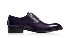 Tom Ford - Violet Semi-Brogue Laceups