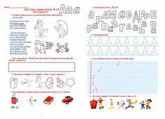"""Materiale didactice de 10(zece): Fișă de lucru - Sunetul și literele """"a"""" și """"A"""", clasa pregătitoare"""