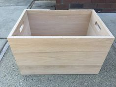 Wood Box Unfinished Chest Toy Box DIY Kids by CandlewoodFurniture