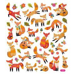 Fox Sticker  Foxes Sticker  Woodland Sticker  by iluvdesign