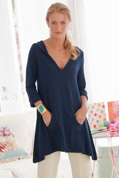 Go to Tunic - A beautiful hooded top that looks wonderful with a variety of bottoms