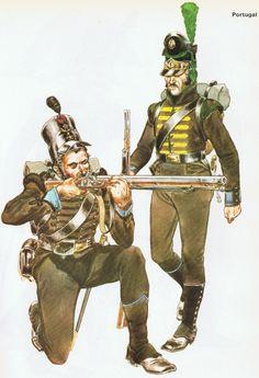 Portuguese Sharpshooters, 1st and 4th Caçadores Regiment