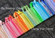Elastic Hair Ties - Ponytail Holders - Creaseless Hair Ties - No Snag - Comfortable Hair Ties - Custom Set