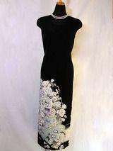 着物(留袖)を、ノースリーブドレスにリフォーム