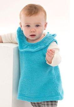 Rockin' Ruffles Baby Dress Pattern | AllFreeKnitting.com