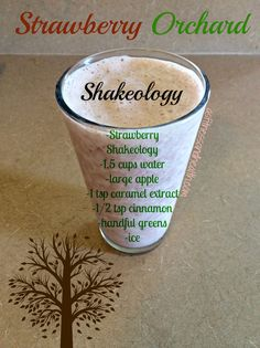 Try this Strawberry Orchard Shakeology! The perfect blend of strawberries, apples and caramel. Add me on Facebook.com/angelinerstetzko for a new recipe every Thursday!