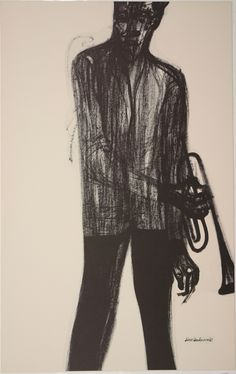 Donald Anderson, lithograph from jazz musicians protfolio