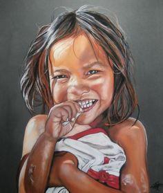 """""""CANELLE, humour ficelle"""" Pastel sec sur papier abrasif 50 x 60 cm http://www.artmajeur.com/catherinewernette/"""