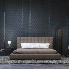 Glorious leather bedroom with lovely home décor with lux bed. Get more interior design ideas fro bedroom. Home Decor Bedroom, Modern Bedroom, Bedroom Ideas, Master Bedroom, Bedroom Designs, Contemporary Bedroom, Bedroom Brown, Bedroom Curtains, Bedroom Small