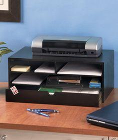 Wooden Printer Stand Organizer 12 95