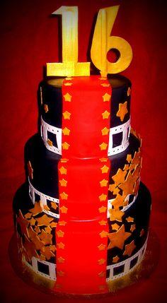 hollywood glamour sweet 16 cakes