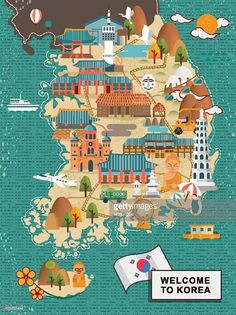 south-korea-travel-map-vector-id499335444 (767×1024)